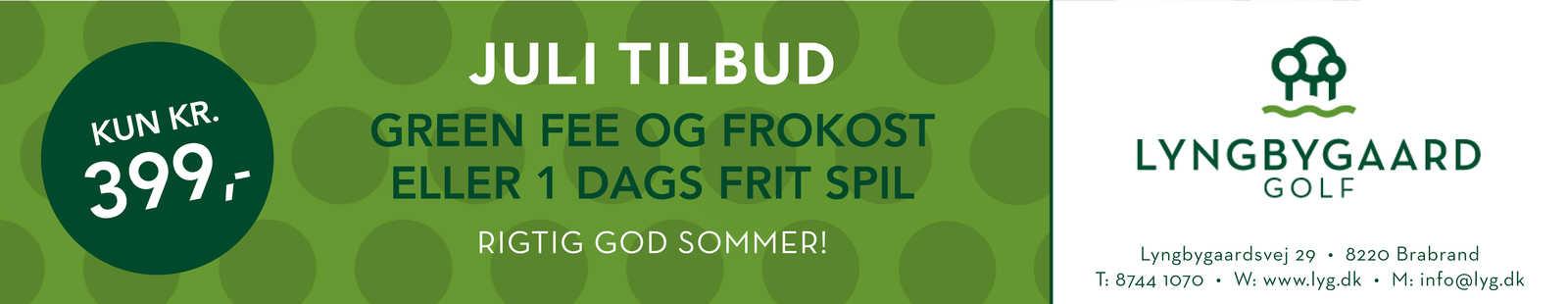 Lyngbygaard Golf juli tilbud