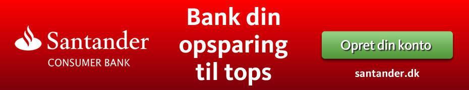 Santander – Bank opsparing til tops